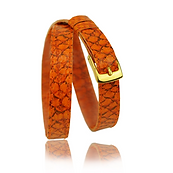 RM101 jewelry leather strap  - pumpkin salmon - price: € 290,00