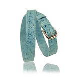 RM101 jewelry leather strap  - blue salmon - price: € 290,00