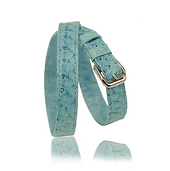 RM101 jewelry leather strap  - blue salmon - price: € 290,00