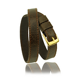 RM101 jewelry leather strap  - cow leather brown - price: € 250,00