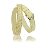 RM101 jewelry leather strap  - nature salmon - price: € 290,00