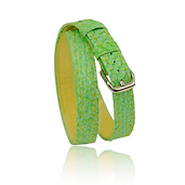 RM101 jewelry leather strap  - lime & lemon salmon - price: € 290,00