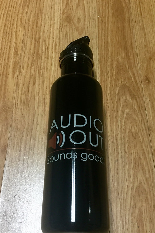 Audio Out Stainless Steel Water Bottle (24 oz)