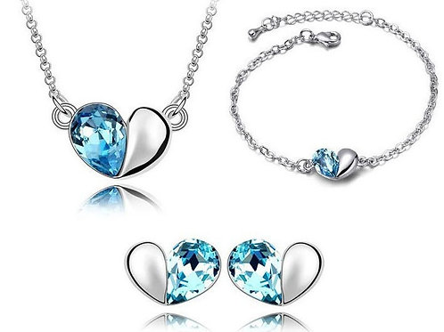 Crystal Heart Tri Set