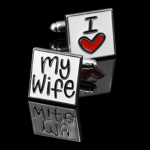 'I Love My Wife' Cufflinks