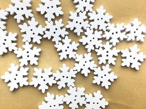 Pack of 50 Snowflake Buttons