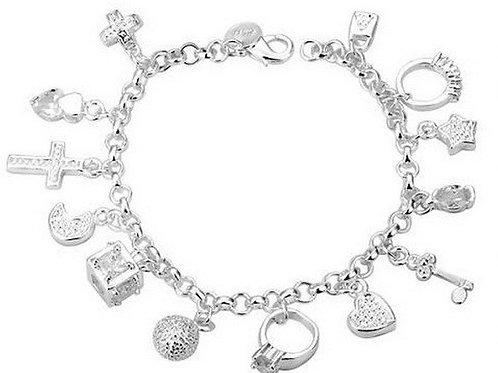 Crystallized Charm Bracelet