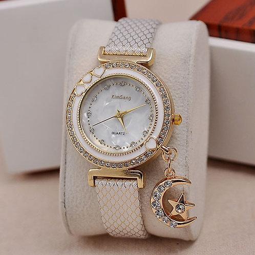 Crystal Charm Wrist Watch