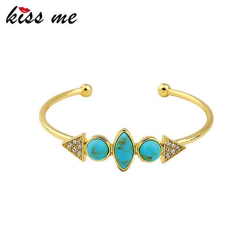 Geometric Turquoise Bangle