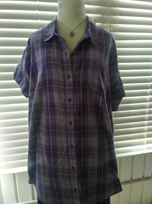 Purple plaid shirt