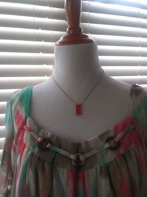 coral/gold reversible necklace