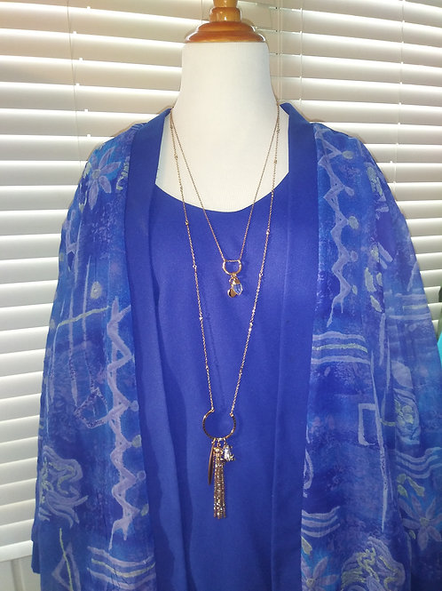 Blue Office - attached Cami to Jacket