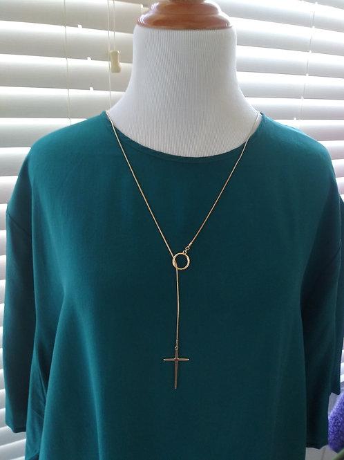 Green silk shell blouse