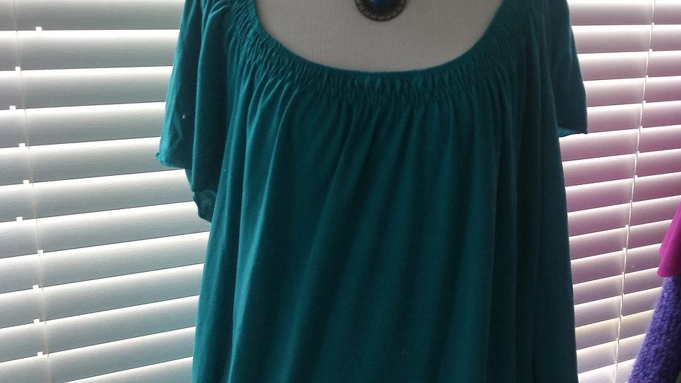 Dressy Blouse Short sleeved green