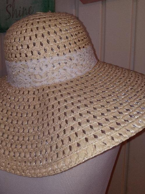 lace ribbon straw hat