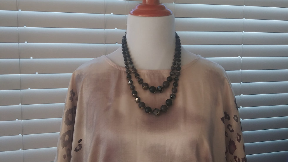 Silky leopard print blouse