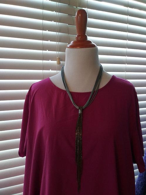 Maroon silky blouse