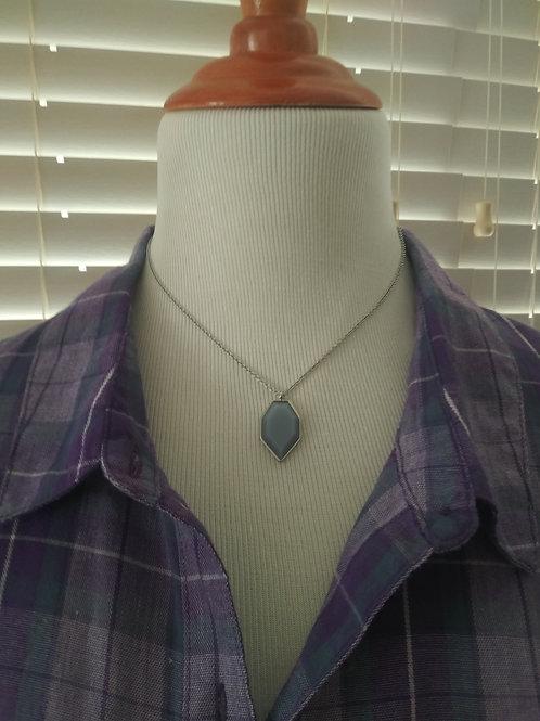 Silver lake necklace set