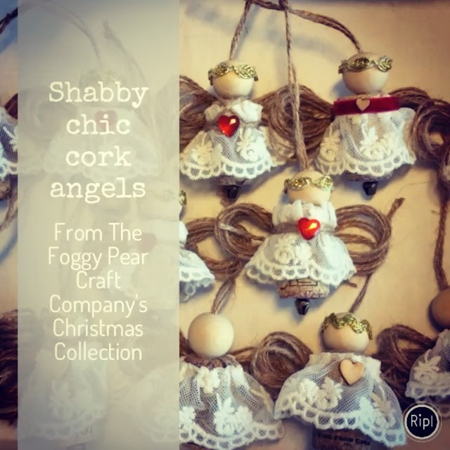 Shabby chic angels