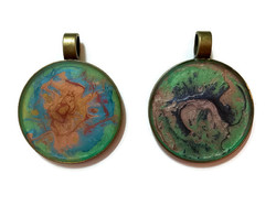 Large round pendants