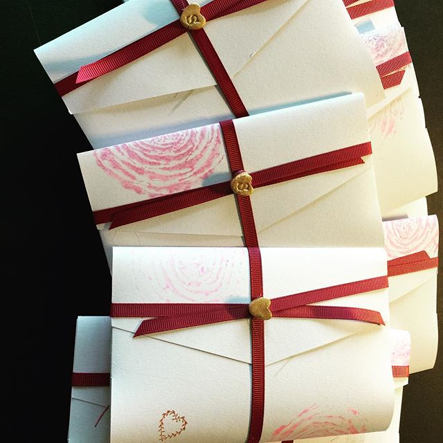 Handmade wedding invitation packs