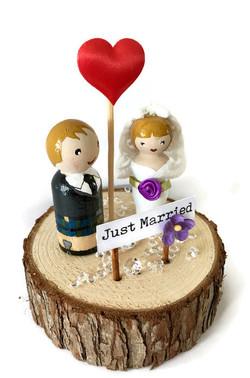 Kilted groom & his bride
