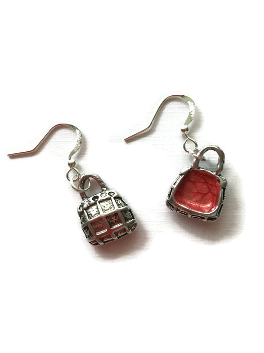 Hand painted charm earrings
