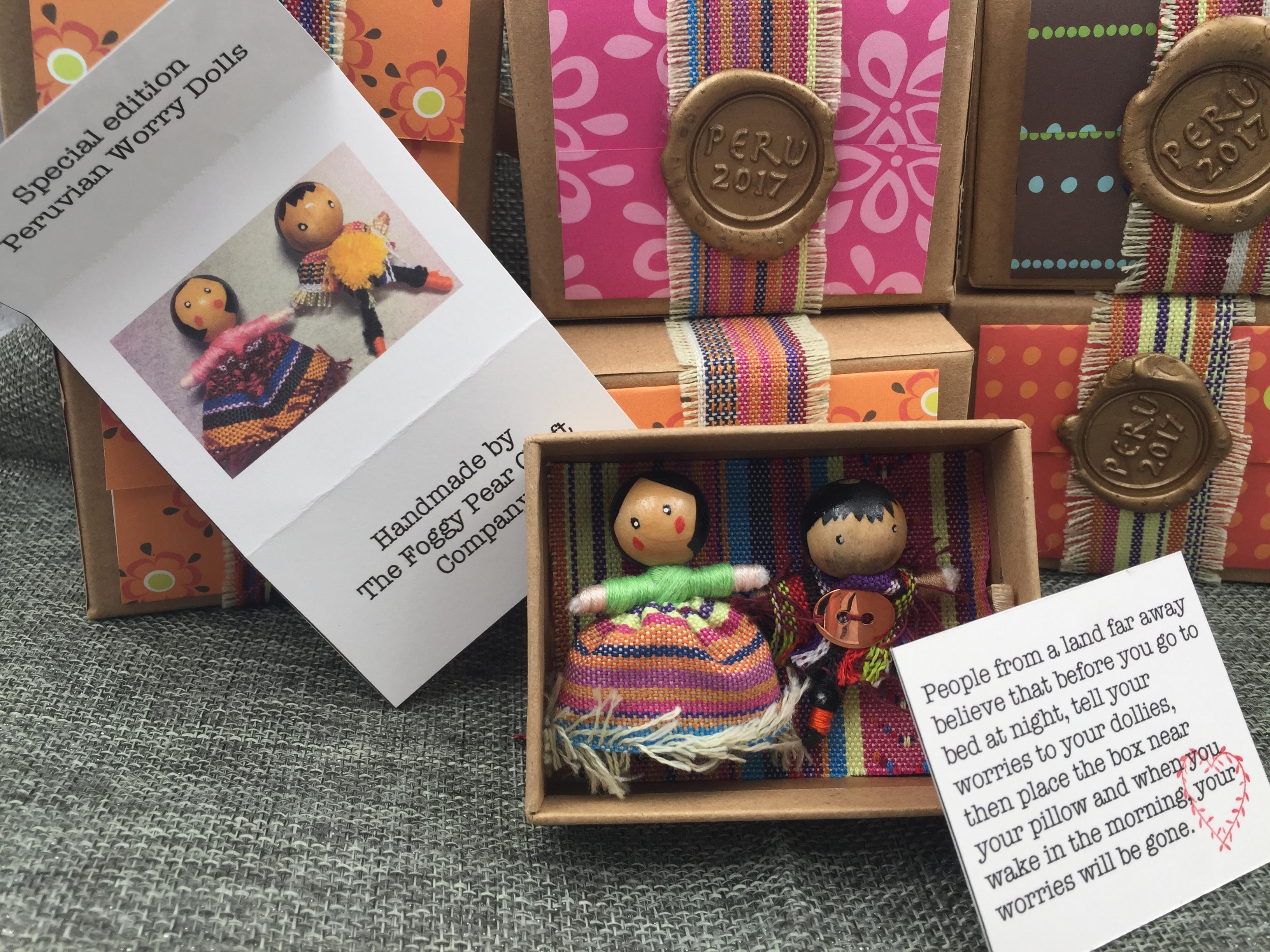 Handmade Peruvian worry dolls