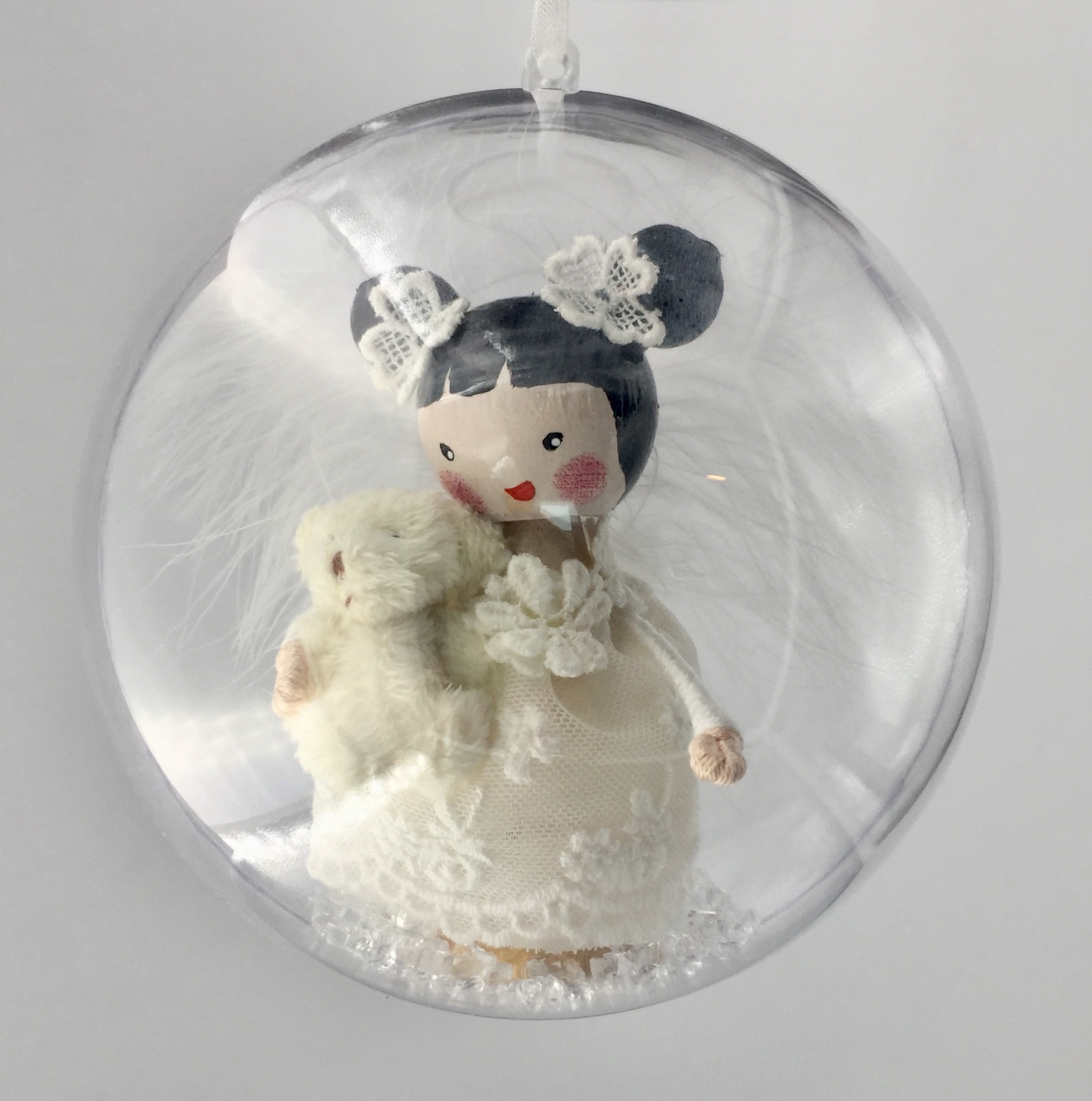 Christmas globe angel