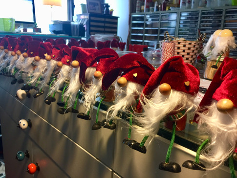 Christmas gnomes ready for the market