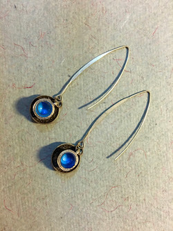 Tea cup earrings in pale blue