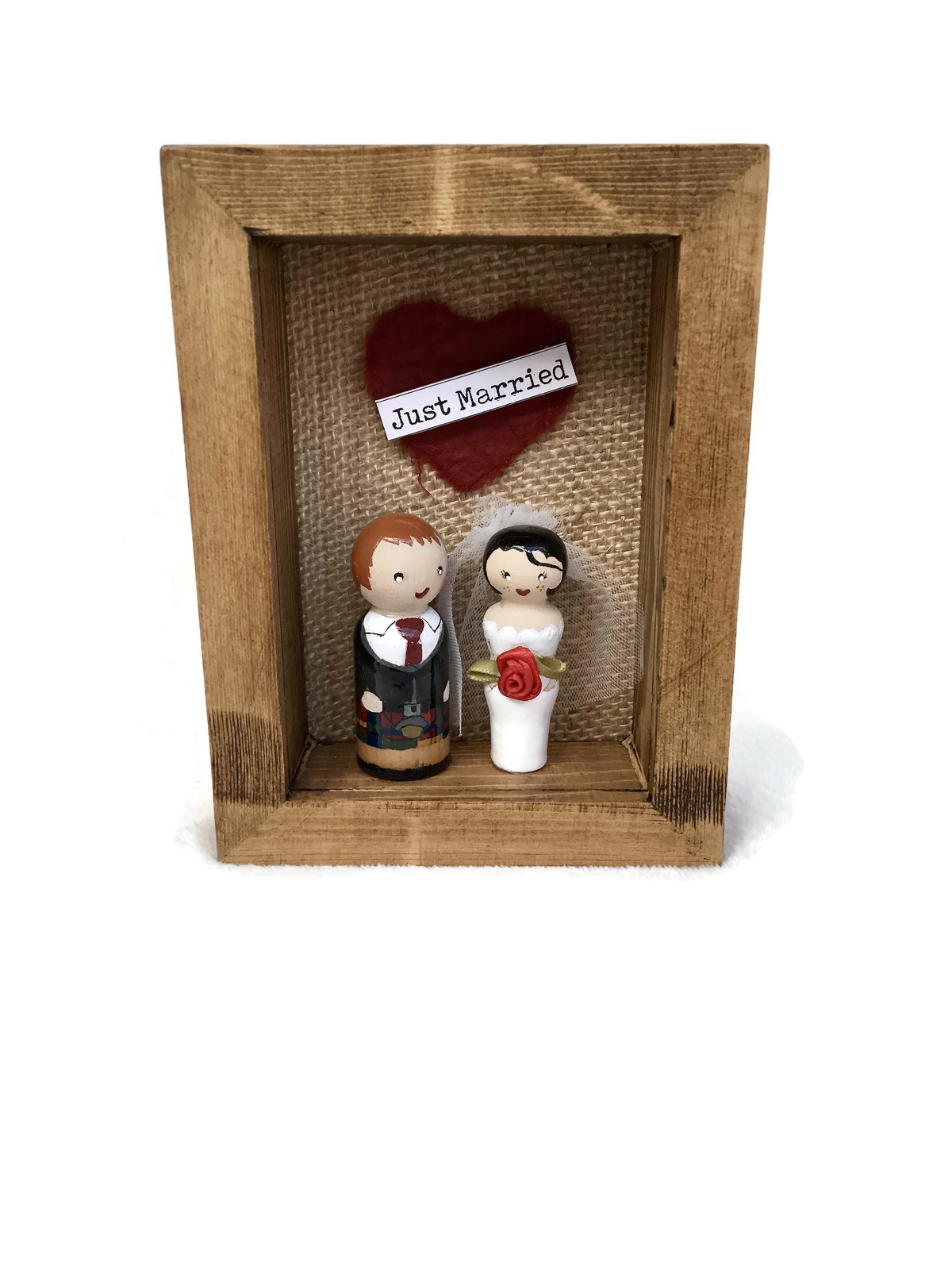 Wedding Peg Doll Frame