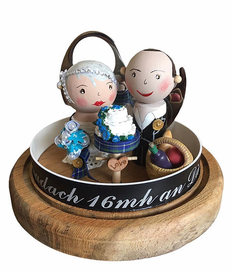 Handmade Wedding Dolls at The Falkirk Wheel