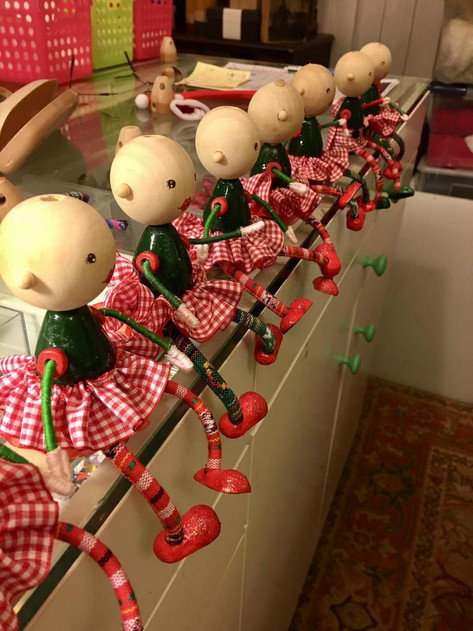 Christmas Gnomes in Progress