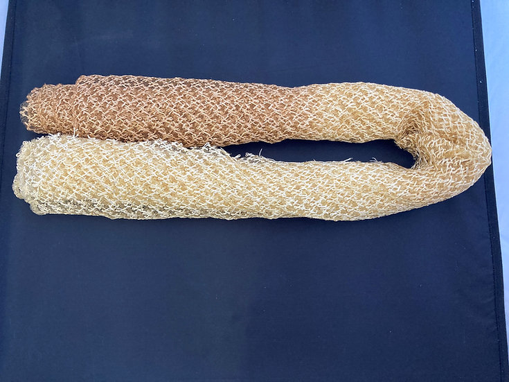 Ombré Knitted Raffia and Crin Straw (Fawn/Ivory/Dark Ivory) – 50cm