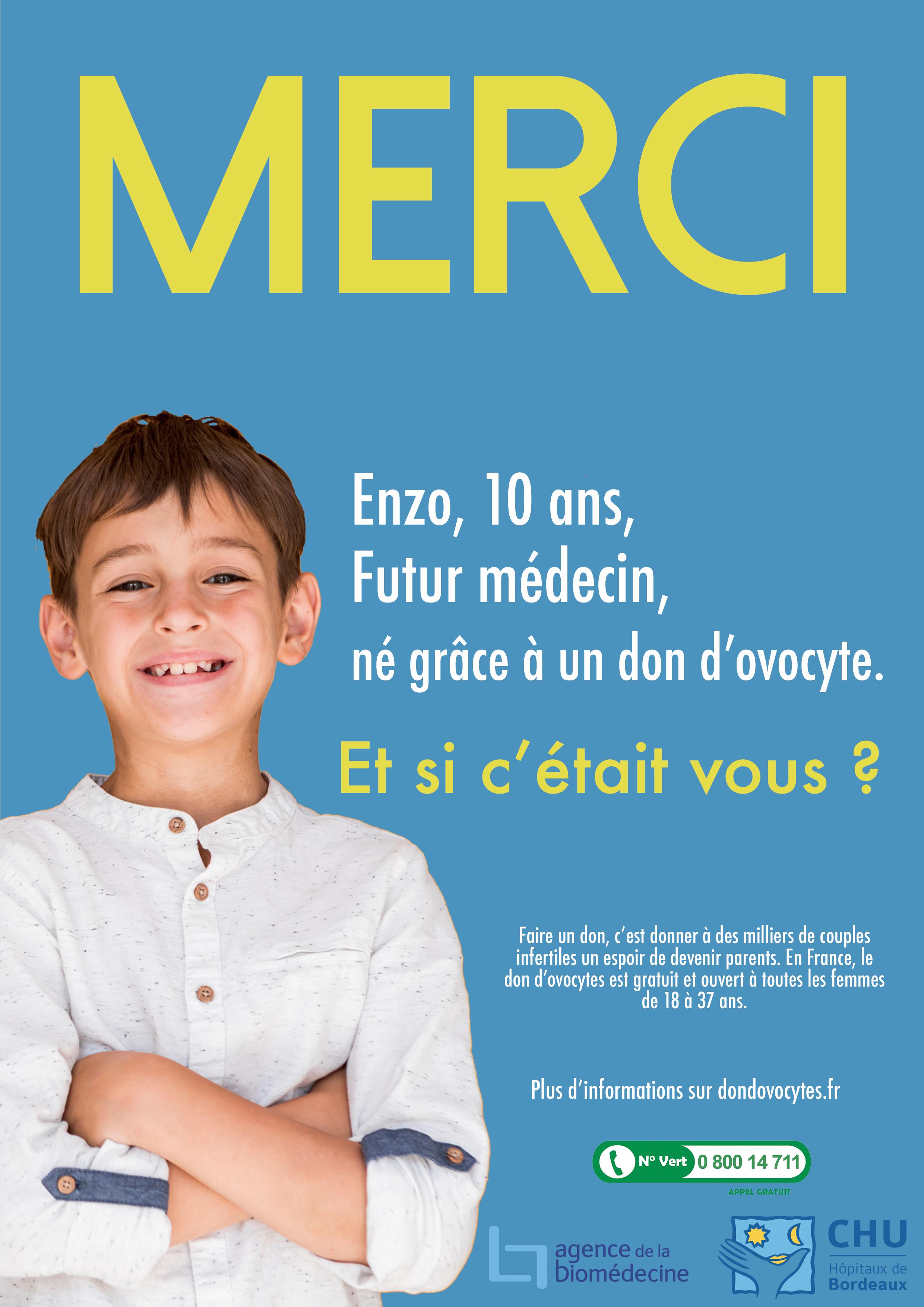 Affiche Don d'ovocyte