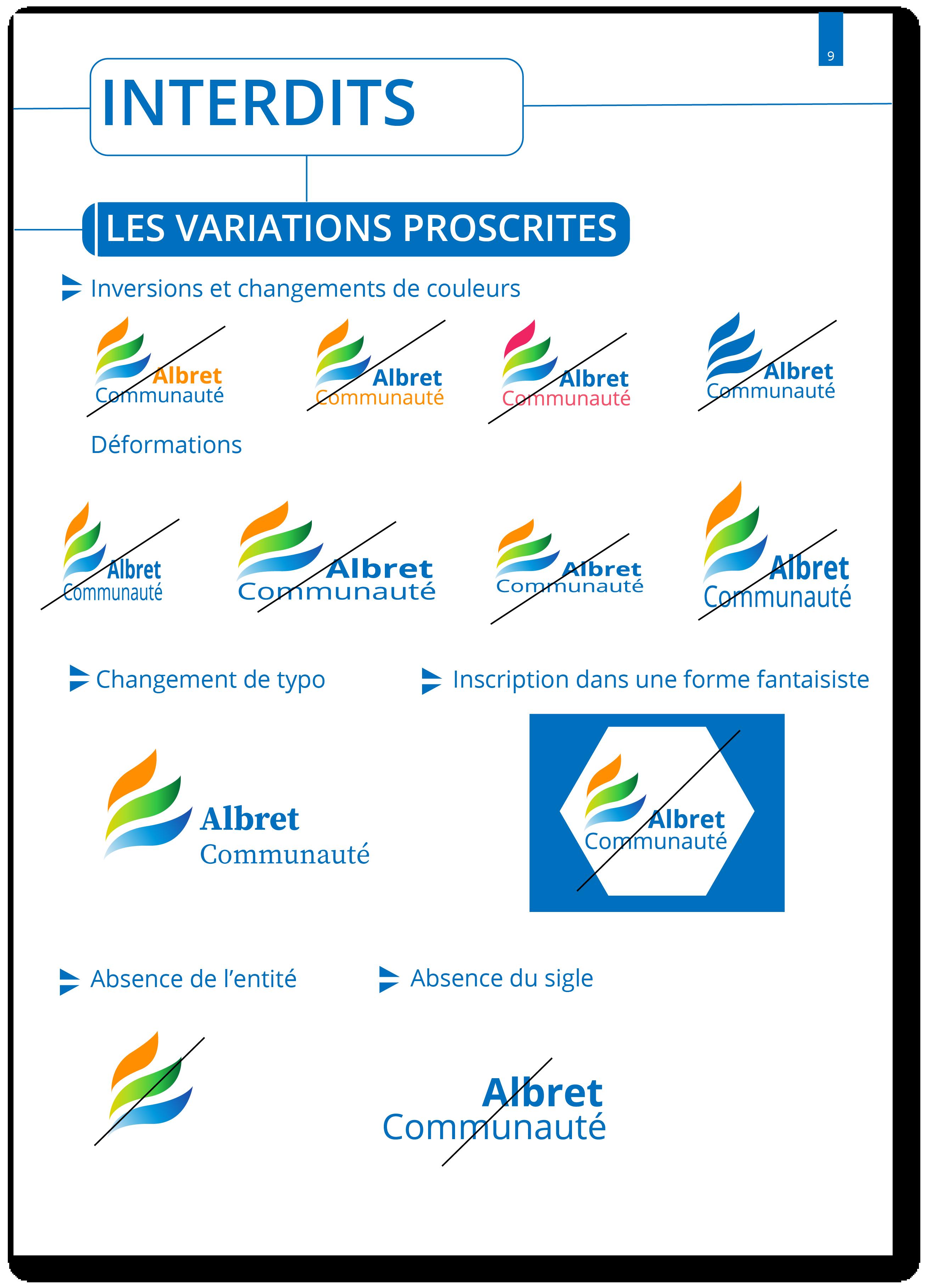 Extrait charte graphique Albret Communauté