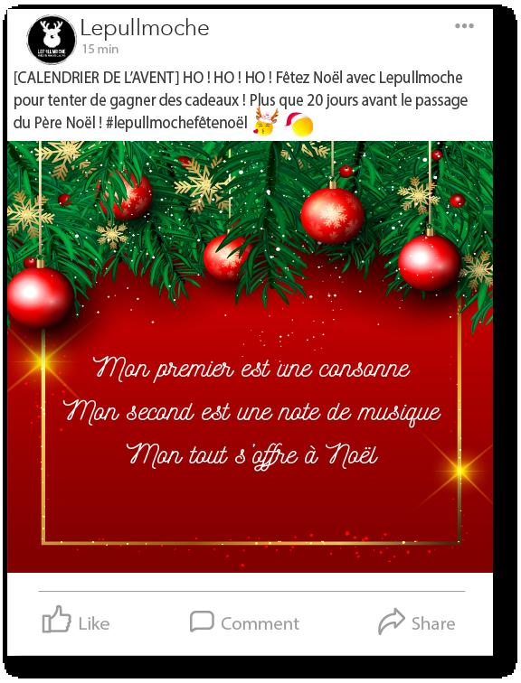 Post Facebook Le Pull moche