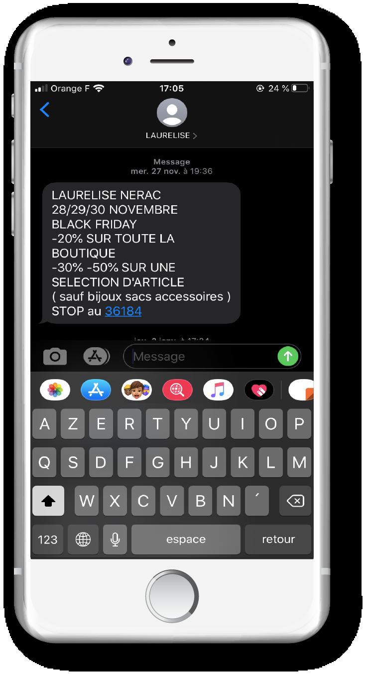 SMS mailing - Boutique Laurelise