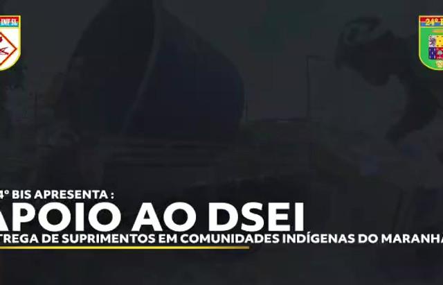 Entrega de suprimentos em comunidades indígenas do Maranhão