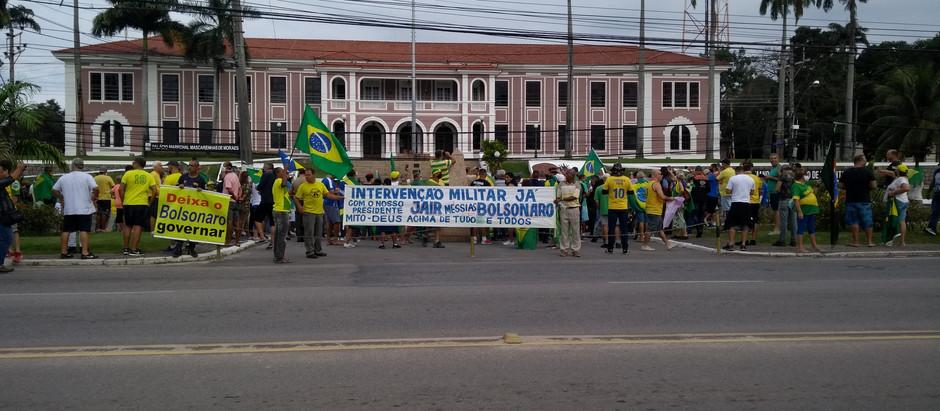 Manifestação de 19/04/20 em frente aos quartéis