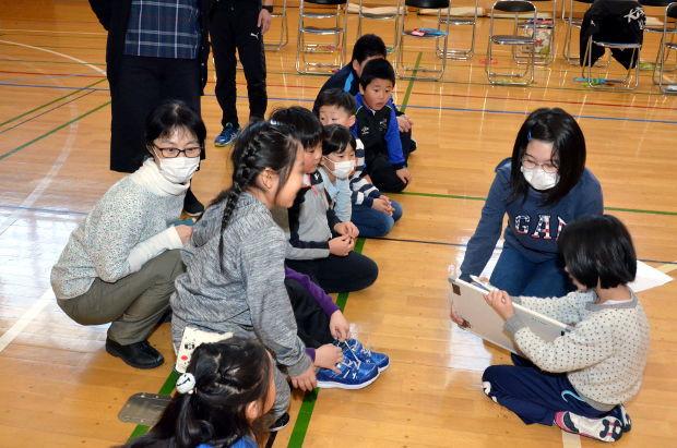 知小2019-6年生を送る会 6年生のお礼のレク