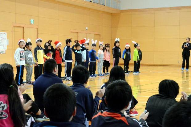 知小2018-全校朝会での1年生の発表