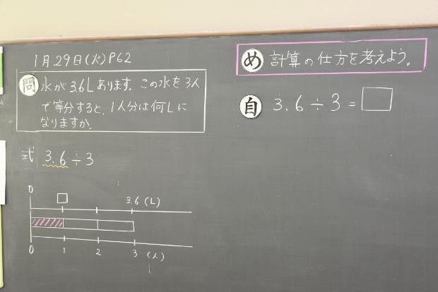 知小2019-4年生の算数の授業 自分で考え方を考える