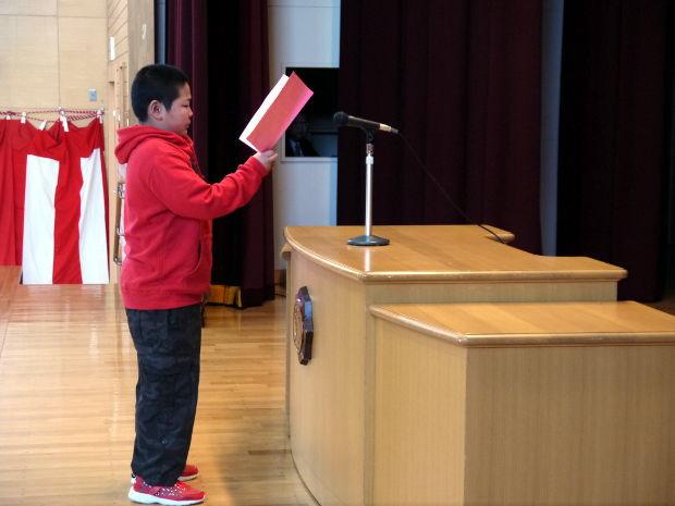 知小2019-贈る言葉を述べる児童会長
