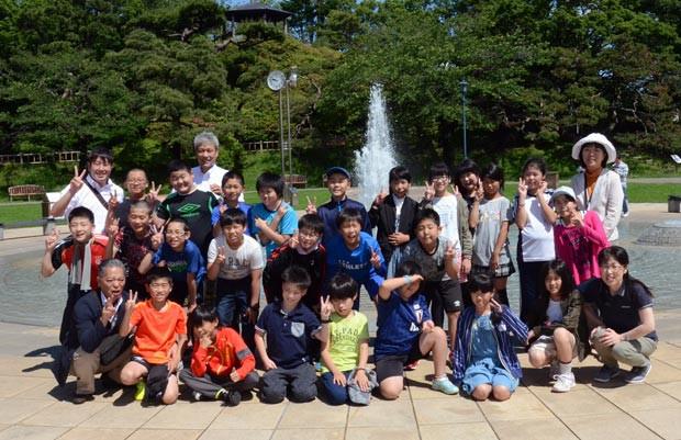 知小2018-函館公園で、知小だけでの集合写真。