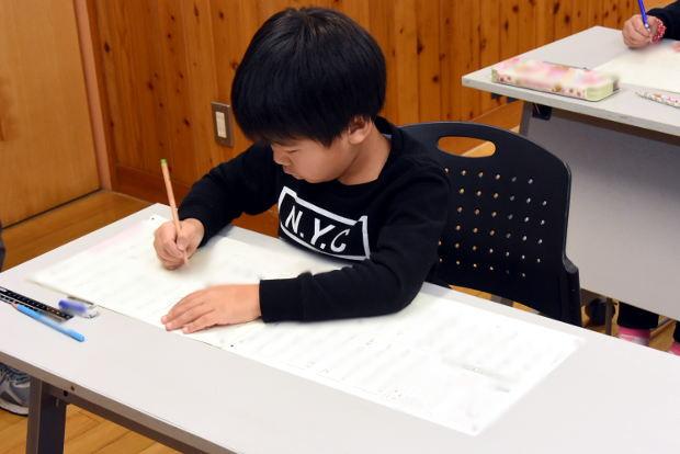 知小2019-漢字検定にに初挑戦する1年生