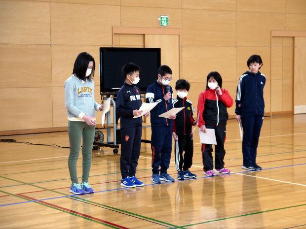 知小2019-児童会三役の挨拶王の表彰