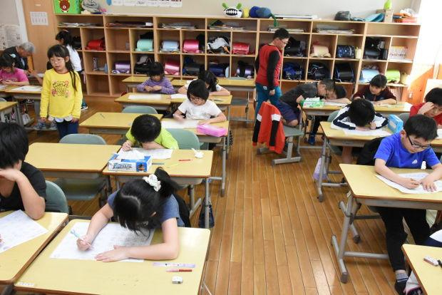 知小2019-2年生が1年間に復習を頑張ってます