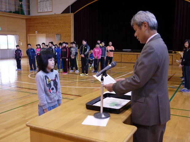 知小2018-漢字検定満点合格者の表彰